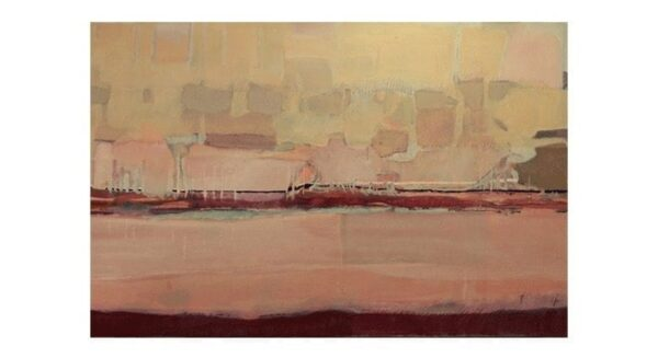 SAM Seattle from Alki - 3 1/2' x 5', Acrylic on Canvas